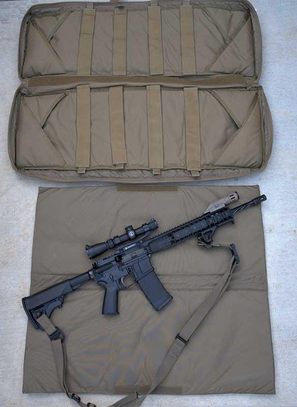 Tactical Rifle Case range mat full extended