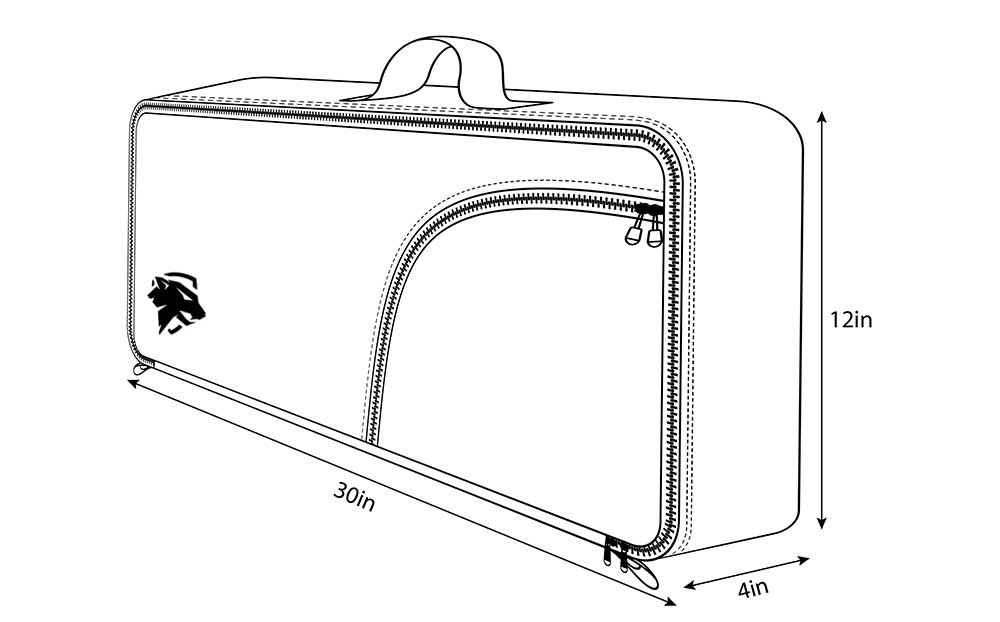 AR 15 Pistol Carry Case Measurements