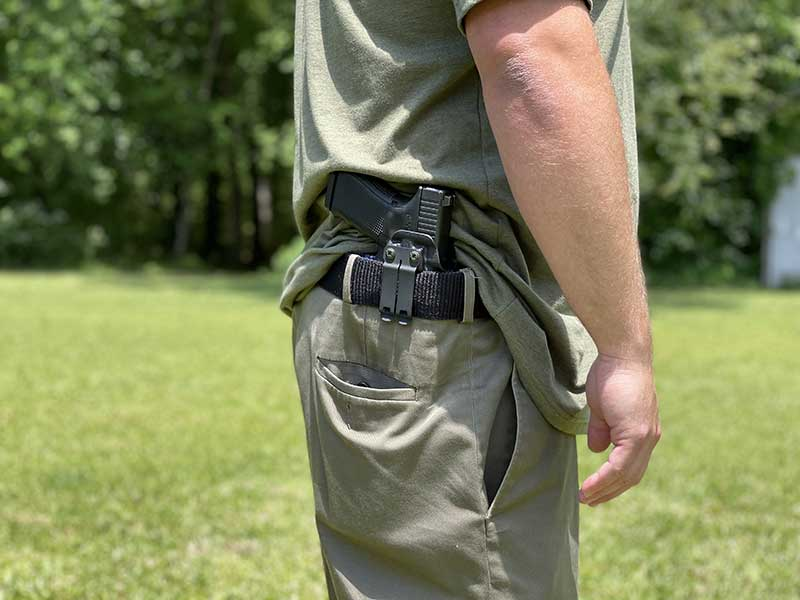 Glock 19 Concealed Carry with Harry's Holsters Singleton