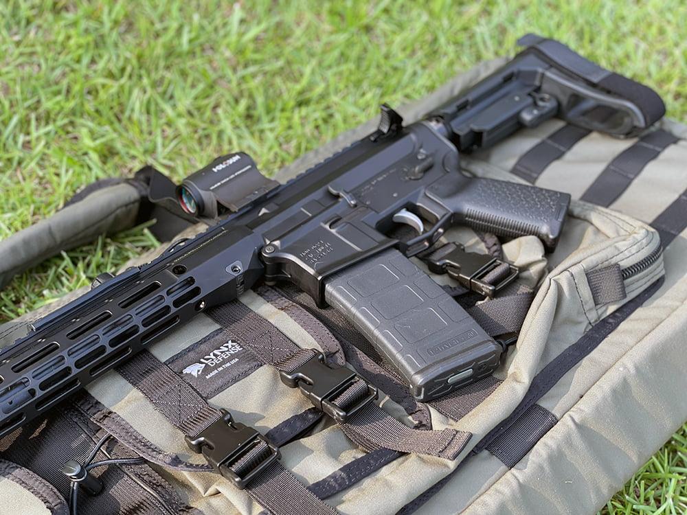 "Ballistic AR-15 on top of a Lynx Defense 36"" Rifle Case"