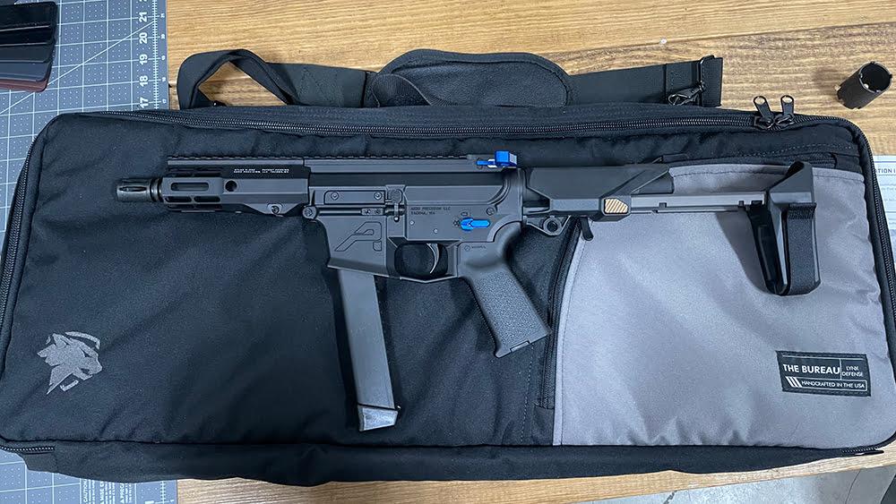 Honey Badger Pistol Brace on Aero Precision EPC 9