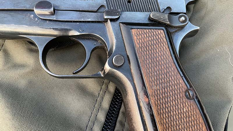 Browning Hi-Power Mag Release Button