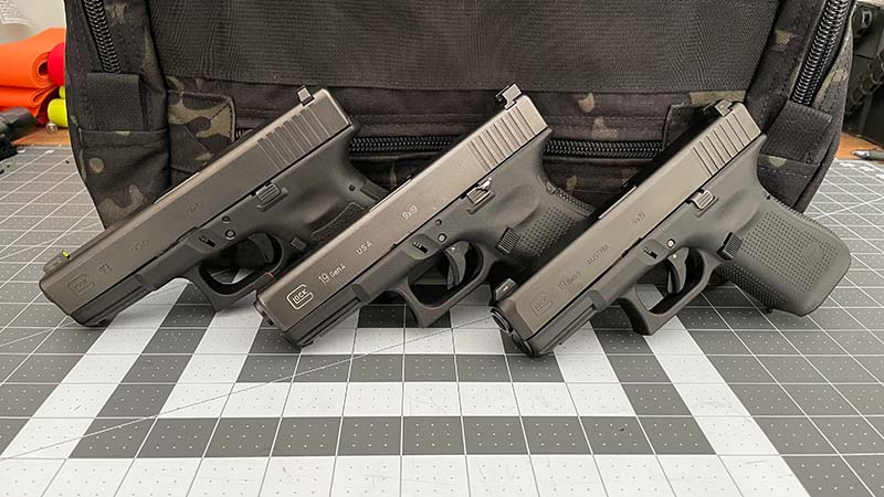 Glock19 Gen3 vs Gen4 vs Gen5